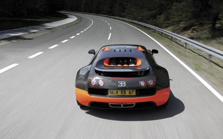 2011 Bugatti Veyron 16 4 Super Sport Rear In Motion1
